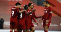 Naby Keita, Roberto Firmino, Trent Alexander-Arnold, Virgil van Dijk Liverpool v Chelsea July 2020