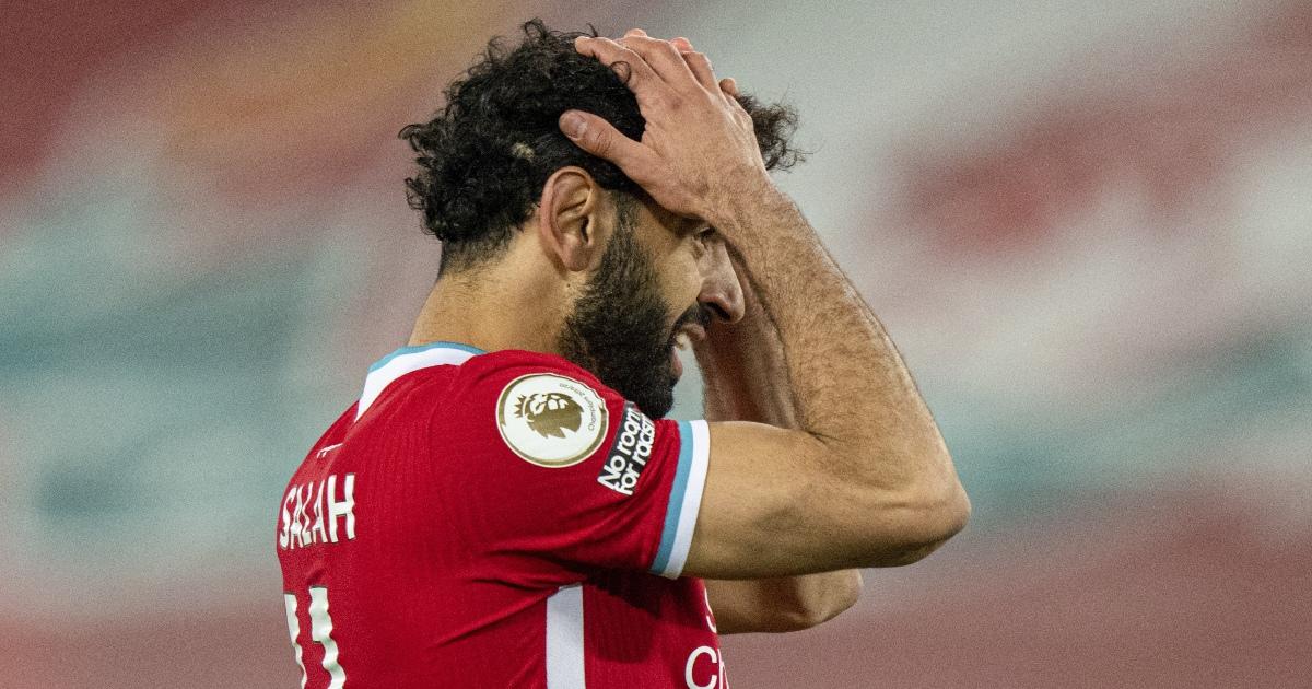 Mohamed Salah frustrated, Liverpool