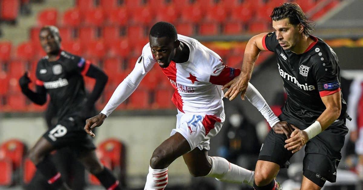 Abdallah Sima Slavia Prague v Bayer Leverkusen October 2021