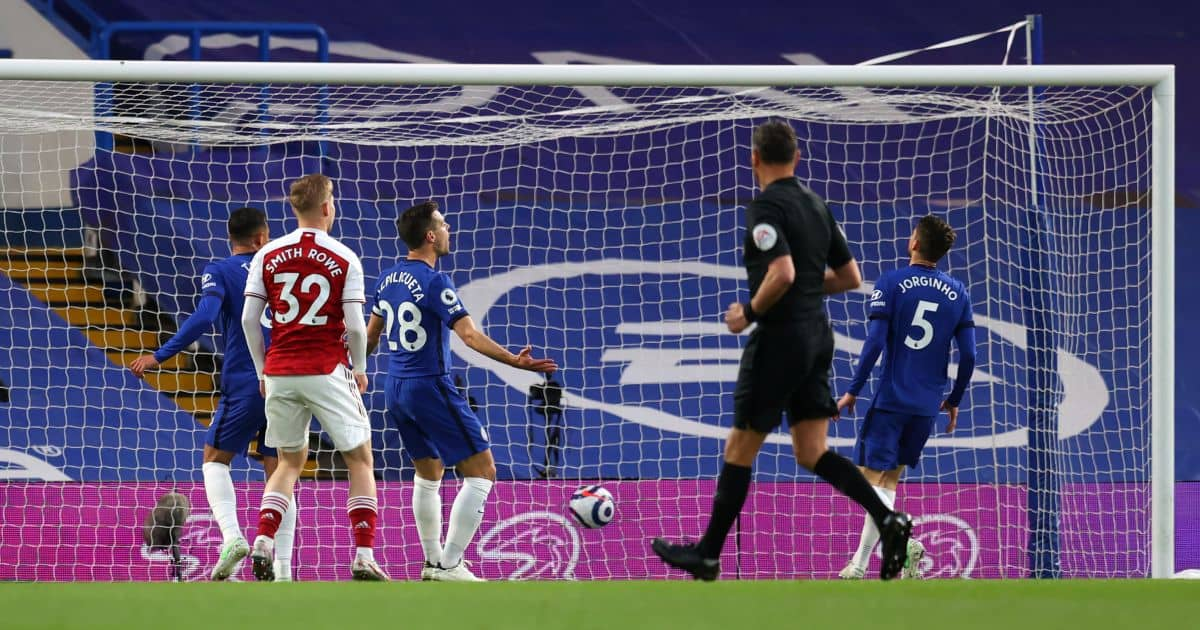 Jorginho, Emile Smith Rowe Chelsea v Arsenal May 2021
