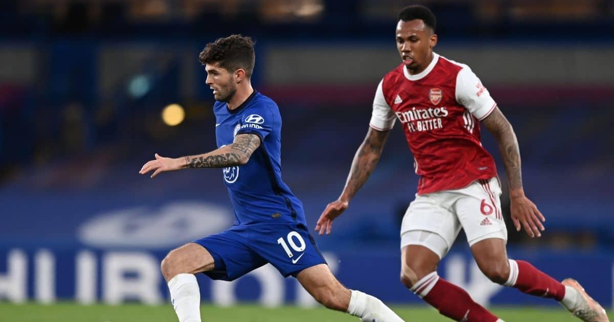 Christian Pulisic, Gabriel Chelsea v Arsenal May 2021