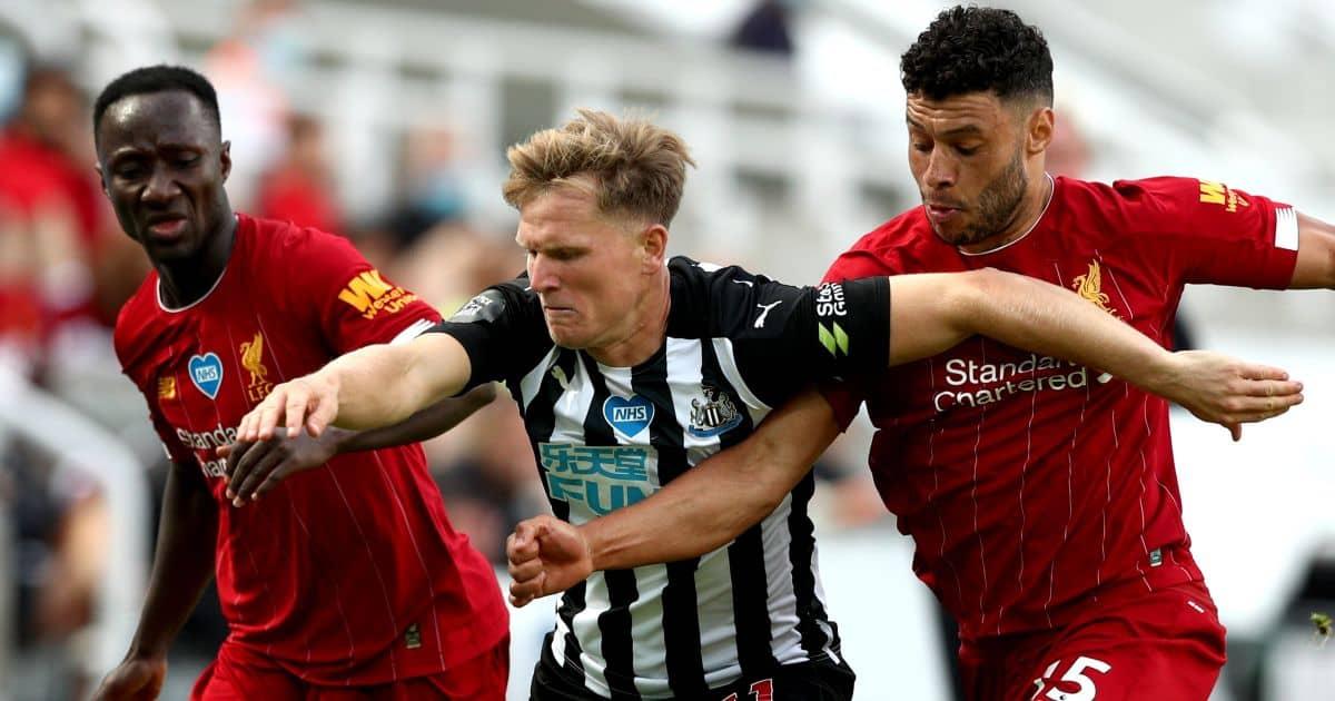 Naby Keita, Matt Richie, Alex Oxlade-Chamberlain Liverpool v Newcastle