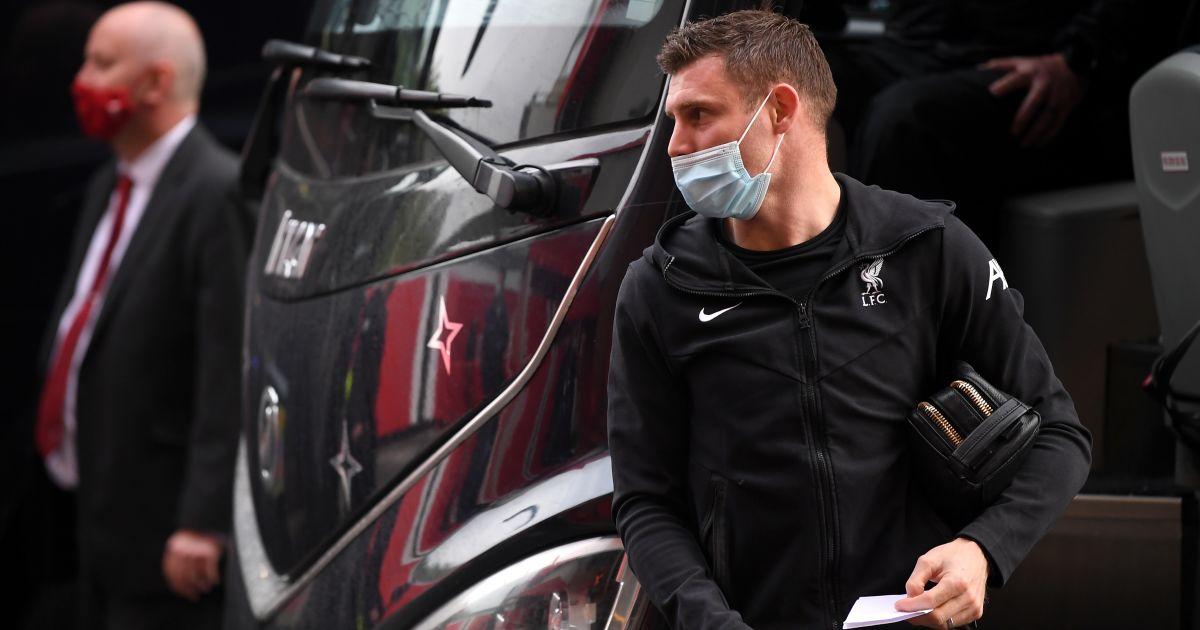 James Milner, Liverpool coach arrives Old Trafford