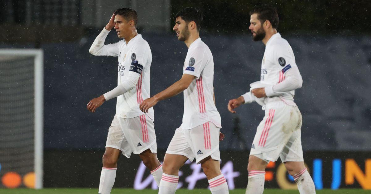 Raphael Varane, Marco Asensio Real Madrid v Chelsea April 2021