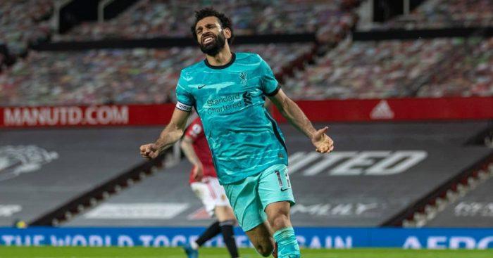 Mohamed Salah Man Utd v Liverpool May 2021