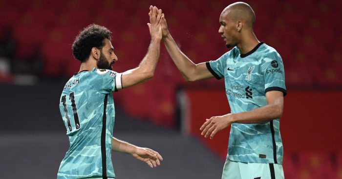 Fabinho, Mohamed Salah Man Utd v Liverpool May 2021