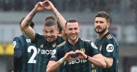 Kalvin Phillips, Jack Harrison, Mateusz Klich, Leeds celeb v Burnley