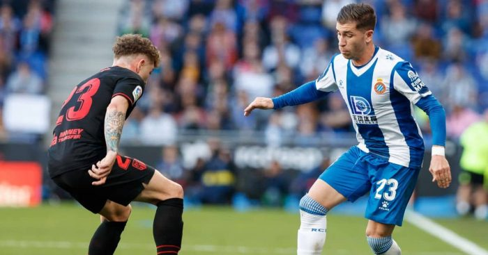Kieran Trippier, Adrian Embarba Espanyol v Atletico Madrid March 2020