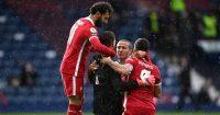 Alisson Becker, Mohamed Salah West Brom v Liverpool May 2021