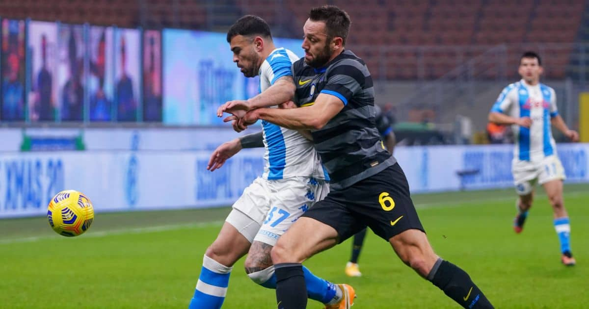 Stefan de Vrij Inter v Napoli December 2020