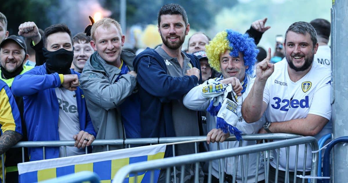 Leeds fans Elland Road July 2020