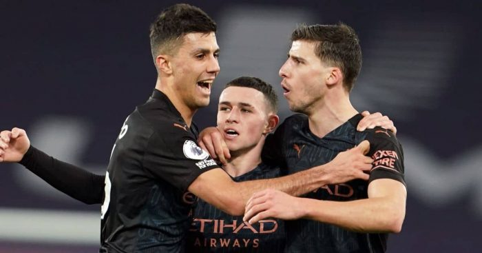Rodri, Phil Foden, Ruben Dias Man City TEAMtalk