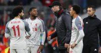 Georginio Wijnaldum, Mohamed Salah, Trent Alexander-Arnold, Jurgen Klopp Liverpool