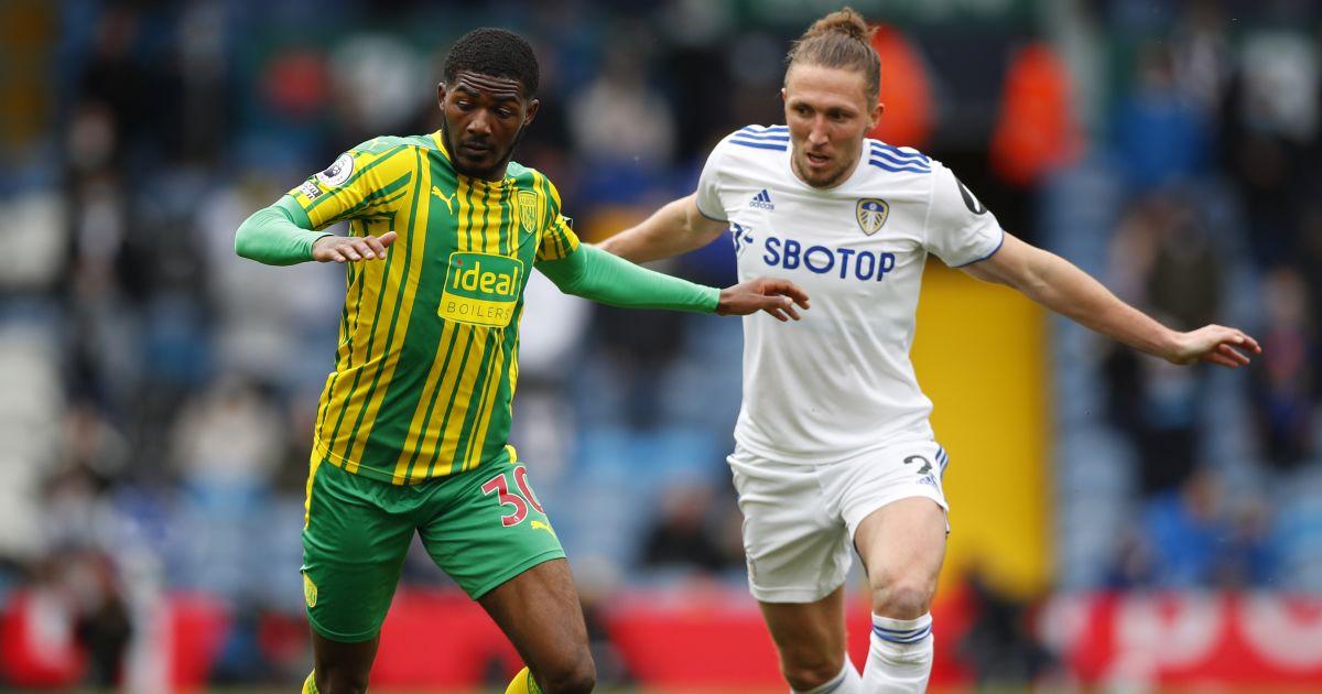 Luke Ayling, Ainsley Maitland-Niles Leeds v West Brom May 2021