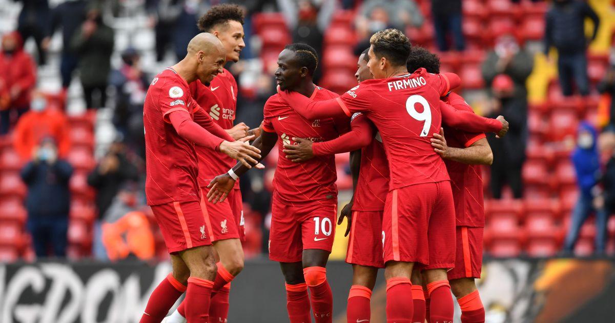 Fabinho, Sadio Mane, Roberto Firmino Leeds v Crystal Palace May 2021