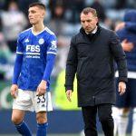 Luke Thomas, Brendan Rodgers Leicester v Tottenham May 2021