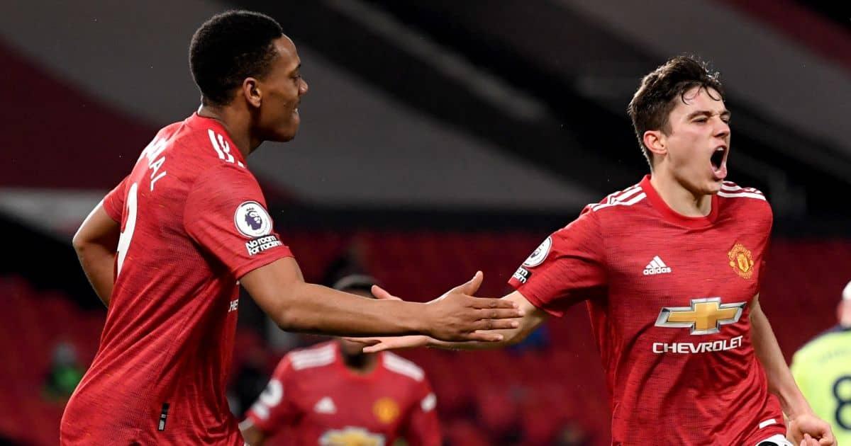Anthony Martial, Daniel James, Man Utd celeb