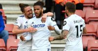 Luke Ayling, Tyler Roberts, Stuart Dallas Leeds United celeb