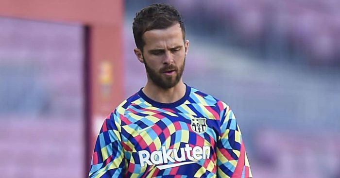 Miralem Pjanic. Barcelona midfielder frustrated