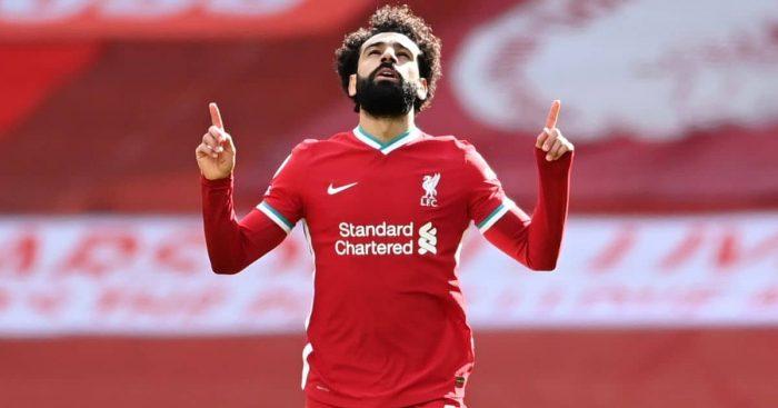 Mohamed Salah goal celeb TEAMtalk