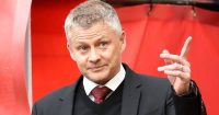 Man Utd manager Ole Gunnar Solskjaer making a point