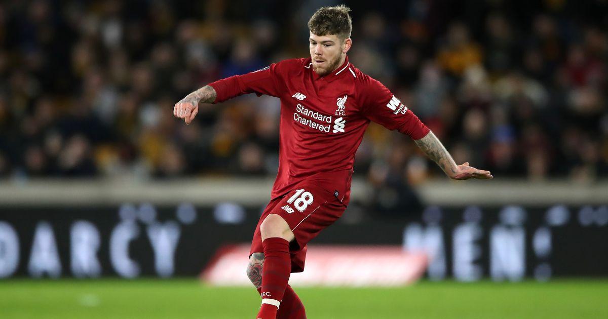 Alberto Moreno Wolves v Liverpool January 2019