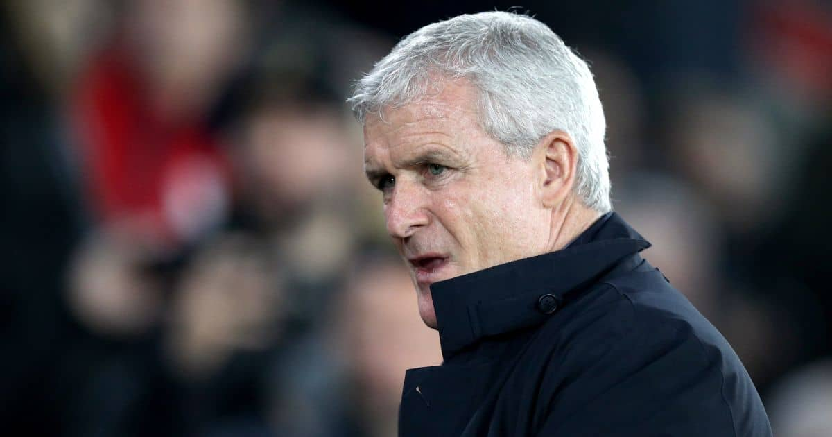 Mark Hughes Southampton manager v Man Utd