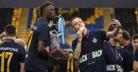 Noa Lang, Youssouph Badji Club Brugge trophy May 2021