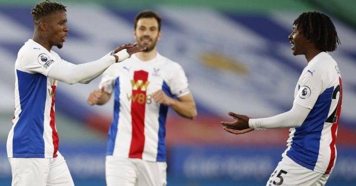 Wilfried Zaha; Eberechi Eze Palace celeb TEAMtalk