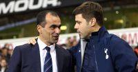Roberto Martinez, Mauricio Pochettino Tottenham v Everton November 2014