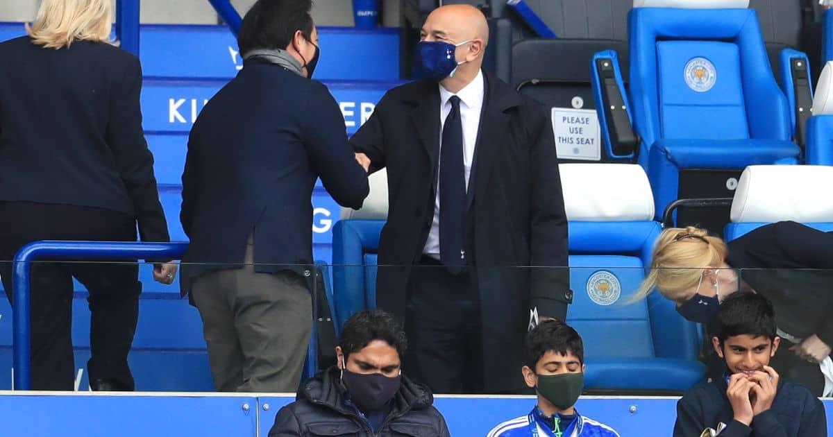Leicester City chairman Khun Aiyawatt Srivaddhanaprabha Daniel Levy King Power Stadium TEAMtalk