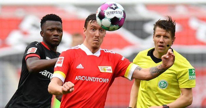 Edmond Tapsoba, Max Kruse Bayer Leverkusen v Union Berlin May 2021
