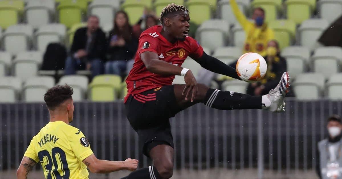 Paul Pogba Man Utd v Villarreal TEAMtalk