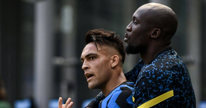 Romelu Lukaku Lautaro Martinez Inter MIlan title celebrations TEAMtalk