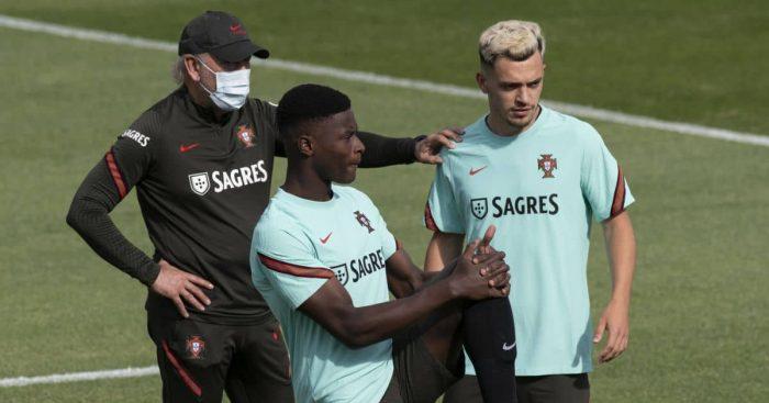 Nuno Mendes Portugal training TEAMtalk