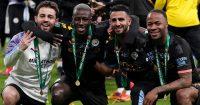 Bernardo Silva, Benjamin Mendy, Riyad Mahrez and Raheem Sterling