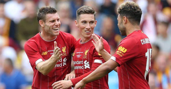 James Milner, Harry Wilson, Alex Oxlade-Chamberlain, Liverpool celeb