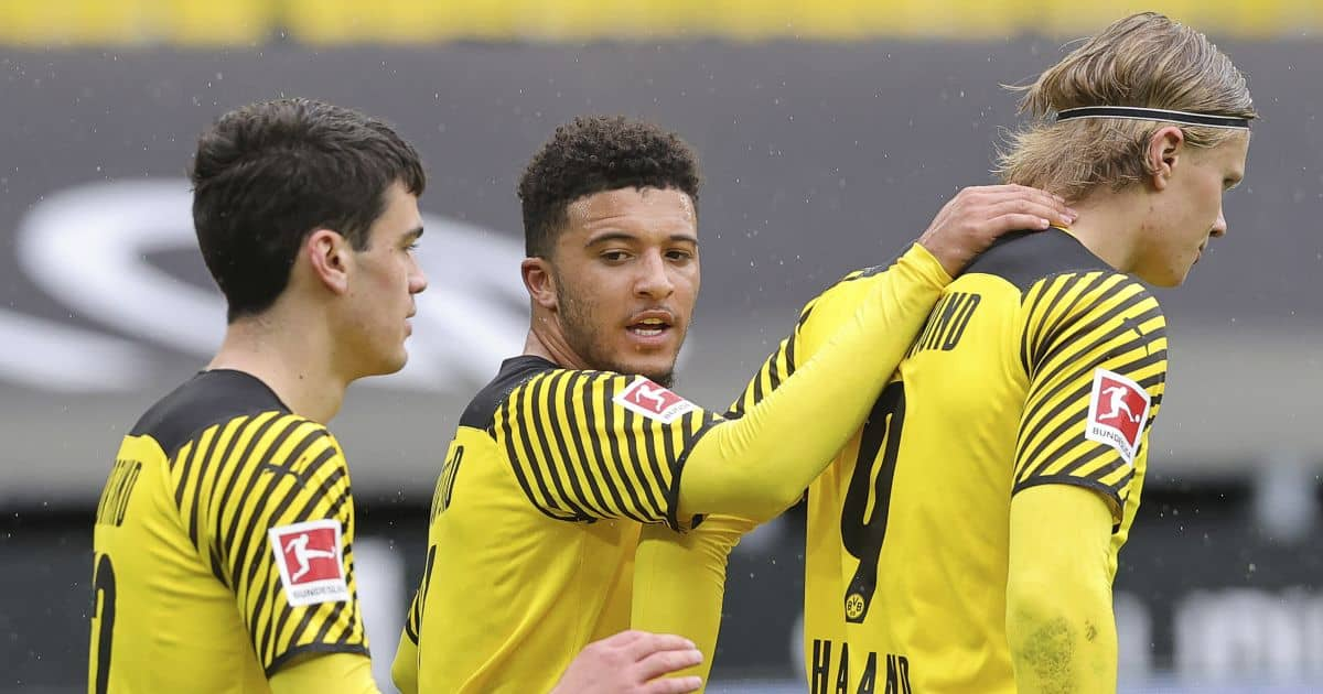 Giovanni Reyna, Jadon Sancho, Erling Haaland, Borussia Dortmund celeb
