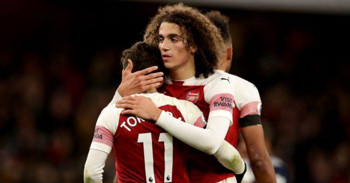 Matteo Guendouzi, Lucas Torreira Arsenal v Fulham January 2019