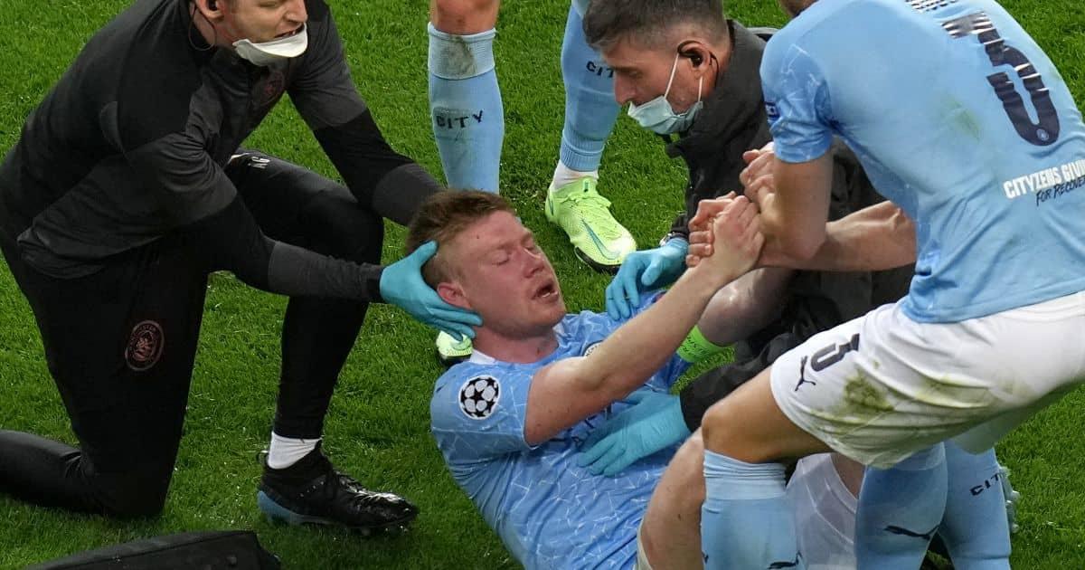 Kevin de Bruyne, Man City midfielder injured in Champions League final, TEAMtalk