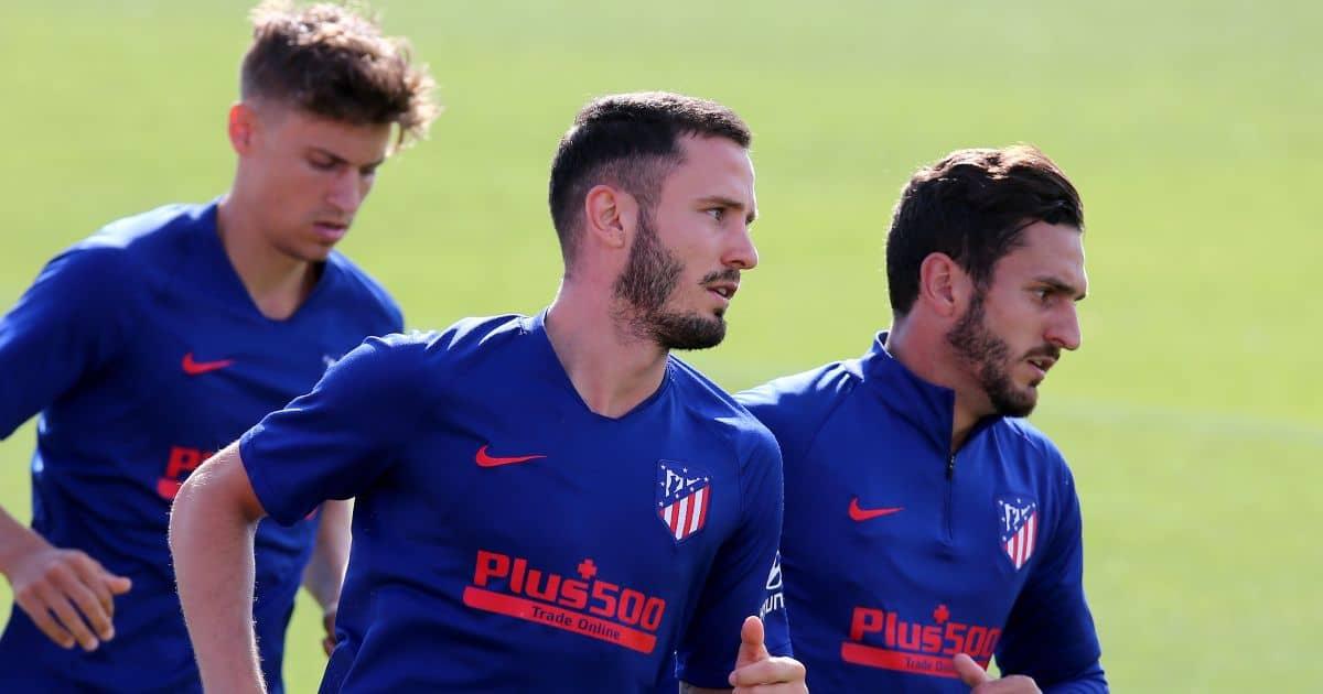 Marcos Llorente, Saul Niguez and Koke Resurreccion, Atletico Madrid training