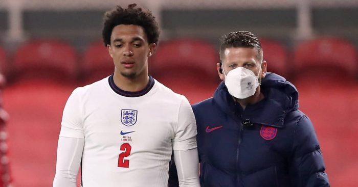 Trent Alexander-Arnold injured for England v Austria, June 2021