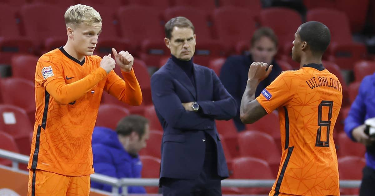 Donny Van de Beek replacing Georginio Wijnaldum for the Netherlands