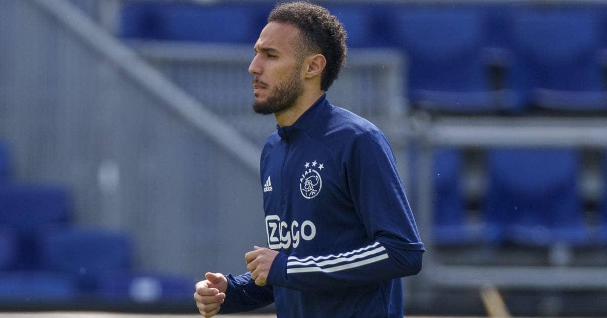 Noussair Mazraoui Ajax warming up TEAMtalk