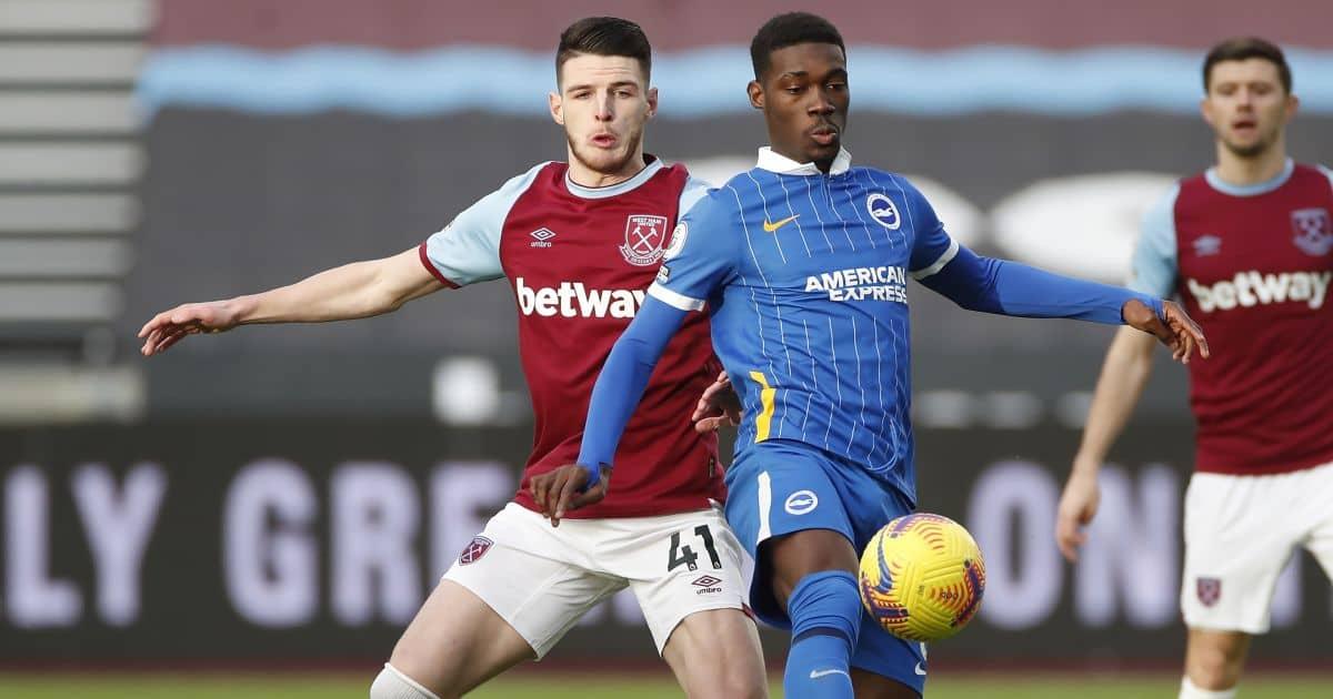 Declan Rice West Ha, Yves Bissouma Brighton, Liverpool transfer interest, TEAMtalk