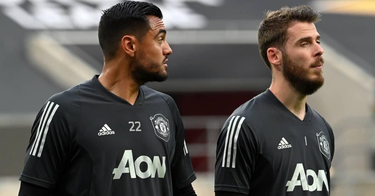 Man Utd goalkeepers Sergio Romero and David de Gea