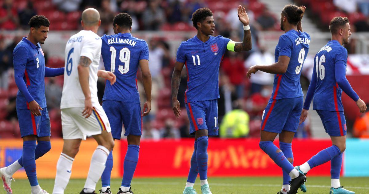Dominic Calvert-Lewin England v Romania June 2021