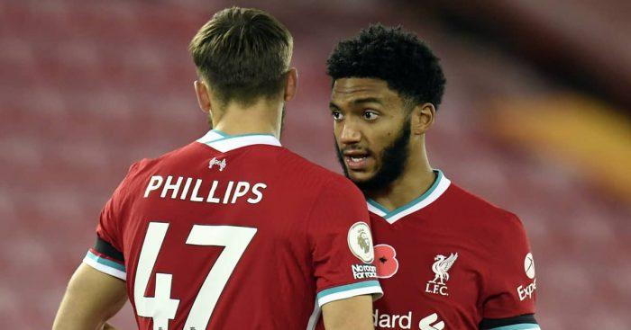 Nat Phillips and Joe Gomez, Liverpool,