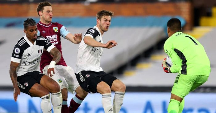 Chris Wood, Alphonse Areola Fulham v Burnley May 2021