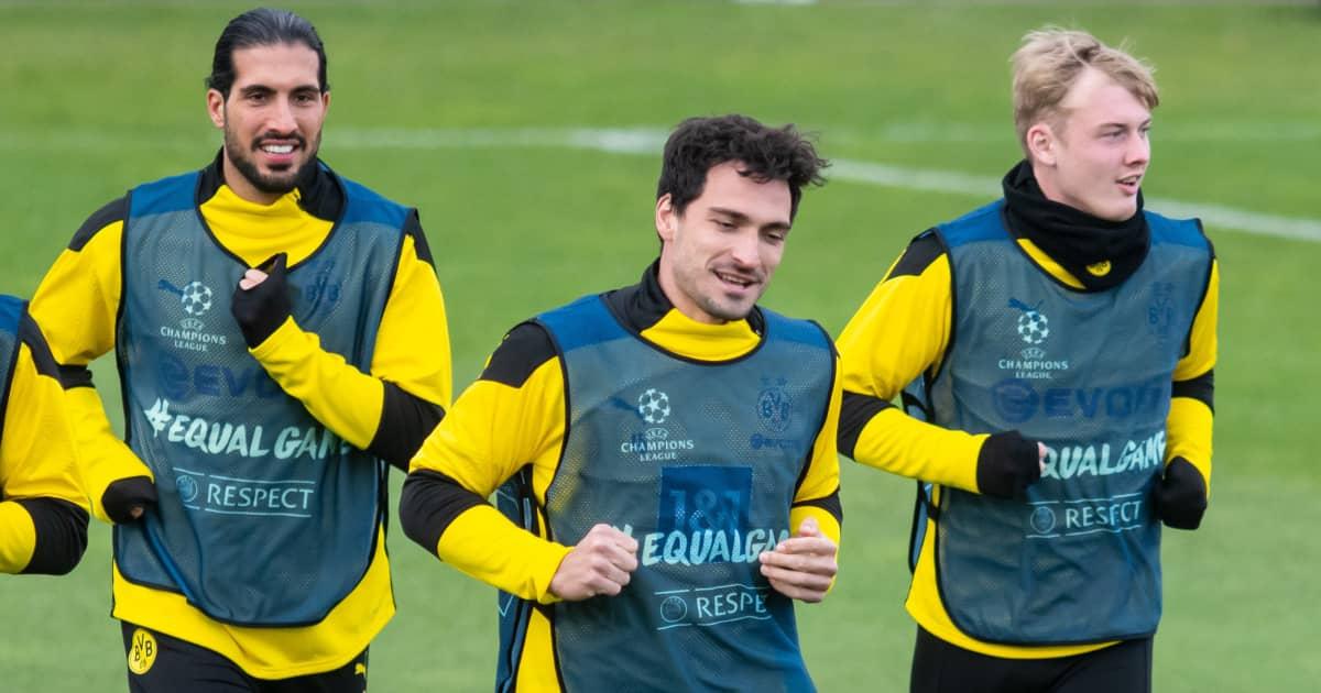 Emre Can Mats Hummels Julian Brandt Borussia Dortmund